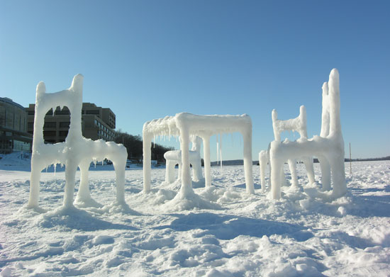 'ice and snow furniture' image © hongtao zhou