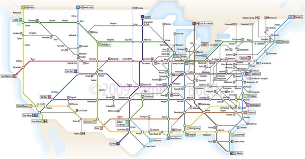 Iamtheweather Us Interstate System As A Tube Map - Map-of-the-us-interstate-system